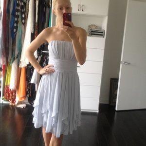 David' Bridal strapless crinkle chiffon dresses